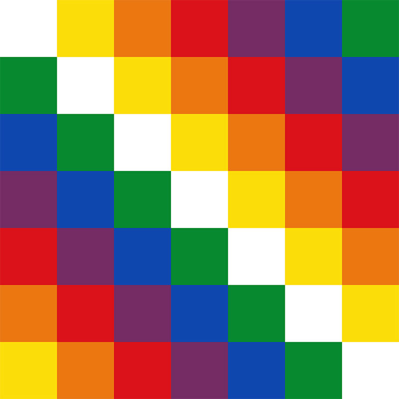 Wiphala of Qulla Suyu, official variant flag of Bolivia since 2009