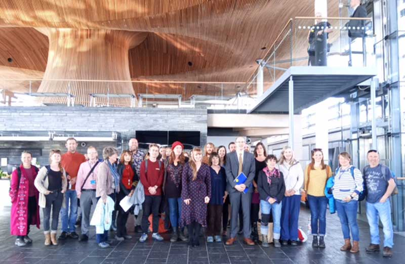 Declaration of Climate Emergency at the Senedd 1 May 2019 ©Anna Munro