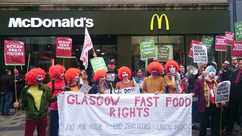 Scottish protests against precarious work © Better Than Zero